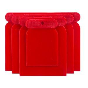 BEOROL JSPVC Σπάτουλα πλαστική τετράγωνη 4τμχ