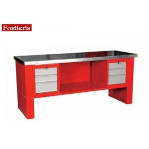 Πάγκος εργασίας 2 m 6 συρταριών κόκκινος 602 FOSTIERIS Πάγκοι & Ταμπλό
