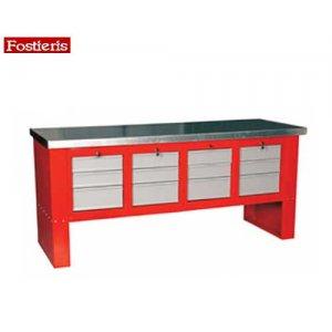 Πάγκος εργασίας 2 m 12 συρταριών κόκκινος 603 FOSTIERIS Πάγκοι & Ταμπλό