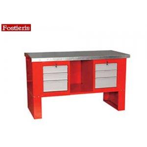 Πάγκος εργασίας 1,5 m 6 συρταριών κόκκινος 601BB FOSTIERIS Πάγκοι & Ταμπλό