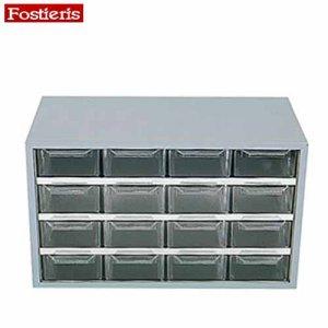Συρταροθήκη μεταλλική με 16 συρτάρια γκρί 408 FOSTIERIS Πάγκοι & Ταμπλό