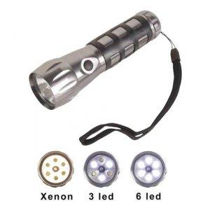 Φακός αλουμινίου με 6 Led DEHCO Φωτισμός