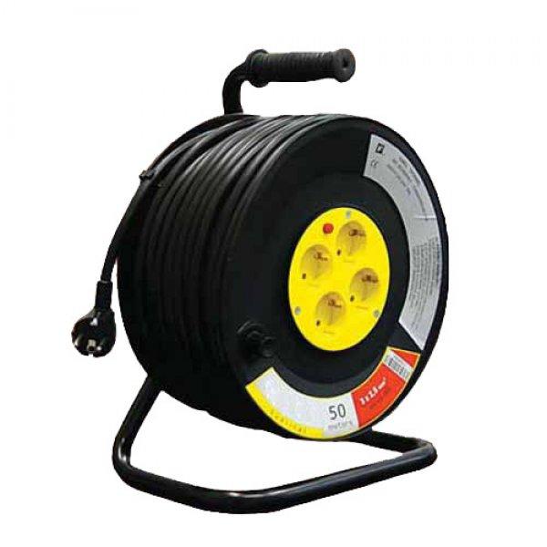 Μπαλαντέζα ρεύματος 40 m 3x2,5mm πλαστικό καρούλι Μπαλαντέζες - Πολύμπριζα