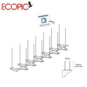 Ακίδες απώθησης περιστεριών 33cm ECOPIC Γαλλίας Ακίδες Απώθησης Πτηνών