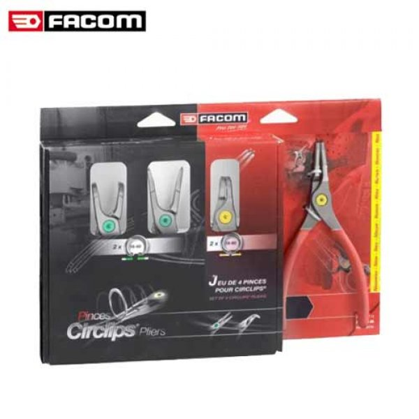 Σετ τσιμπίδια ασφαλειών 4 τεμαχίων ίσια & κυρτά PCSNJ4PB FACOM