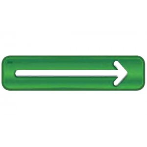 Αυτοκόλλητη πινακίδα πληροφόρησης «1 ΒΕΛΟΣ» Πινακίδες Σήμανσης & Πληροφόρησης