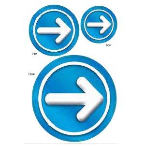 Αυτοκόλλητη καρτέλα πληροφόρησης «ΥΠΟΧΡΕΩΤΙΚΑ» 3 τεμ Πινακίδες Σήμανσης & Πληροφόρησης