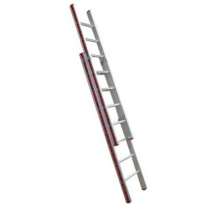 Σκάλα αλουμινίου 2 τεμ. με 19 σκαλοπάτια χωρίς τραβέρσα PROFAL Σκάλες