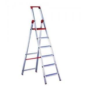 Σκάλα αλουμινίου ενισχυμένη 5 + 1 σκαλιά 'MAREA' PROFAL 204501