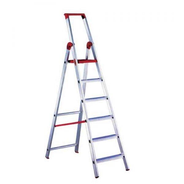 Σκάλα αλουμινίου ενισχυμένη 6 + 1 σκαλιά 'MAREA' PROFAL 204601