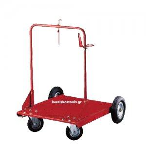 Καρότσι μεταφοράς βαρελιών 180-220 kg. με 4 τροχούς FAICOM Ιταλίας Καρότσια Μεταφοράς Βαρελιών