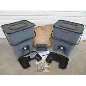 Διπλός προ-κομποστοποιητής 18 lt. με βρυσάκι & 1 κιλό BOKASHI Οικιακή Ανακύκλωση