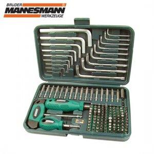 Συλλογή κατσαβιδολαβές μύτες & κλειδιά 139 τεμαχίων Mannesmann 2 Κατσαβίδια & Μύτες