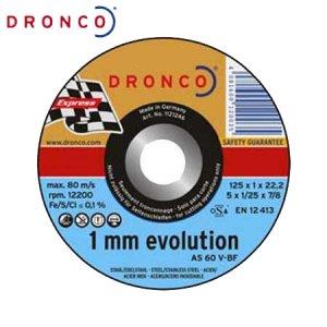 Δίσκος κοπής Inox 125x1,0 AS 60 V DRONCO Γερμανίας Γωνιακοί Τροχοί