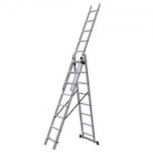 Σκάλα τριπλή επεκτεινόμενη 24 σκαλιών SSS8 BULLE Σκάλες