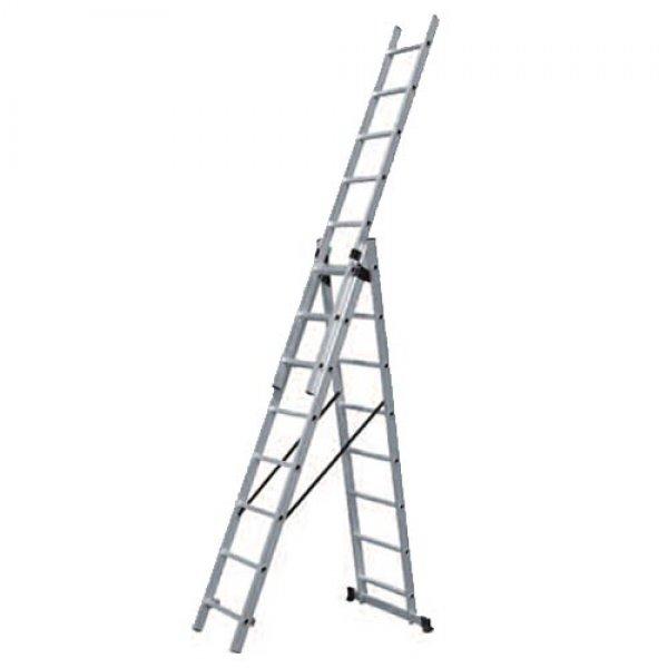 Σκάλα τριπλή επεκτεινόμενη 36 σκαλιών SSS112 BULLE Σκάλες