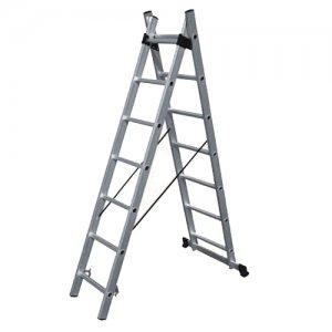 Σκάλα αλουμινίου διπλή επεκτεινόμενη 18 σκαλιών SS9 BULLE Σκάλες