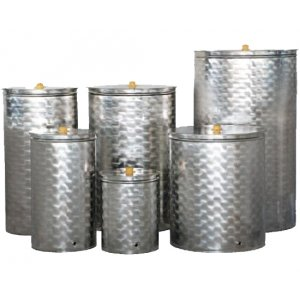 Δεξαμενή ανοξείδωτη (Inox) για λάδι - κρασί - γάλα 100 λίτρων Ανοξείδωτα Δοχεία - Δεξαμενές