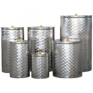 Δεξαμενή ανοξείδωτη (Inox) για λάδι - κρασί - γάλα 200 λίτρων Ανοξείδωτα Δοχεία - Δεξαμενές