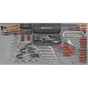 Συλλογή Γενικής μηχανικής με 130 εργαλεία CM.130A FACOM