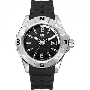 Ρολόι ανδρικό NORTH Black - Black silicone AF.141.21.132 CAT® WATCHES