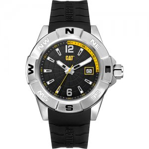 Ρολόι ανδρικό NORTH Black/Yellow - Black silicone AF.141.21.137 CAT® WATCHES