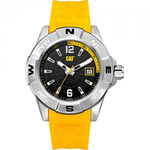 Ρολόι ανδρικό NORTH Black/Yellow - Yellow silicone AF.141.27.137 CAT® WATCHES