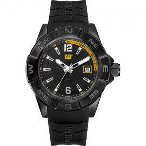 Ρολόι ανδρικό NORTH Black/Yellow - Black silicone AF.161.21.137 CAT® WATCHES
