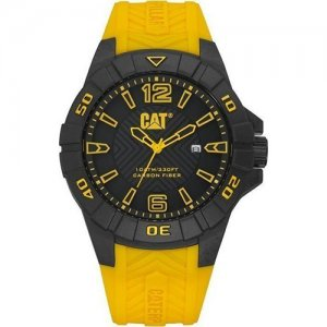 Ρολόι ανδρικό KARBON Black/Yellow - Black silicone K1.121.27.137 CAT® WATCHES
