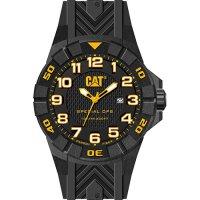 Ρολόι ανδρικό SPECIAL OPS Black/Yellow Carbon case - Black silicone K2.121.21.117 CAT® WATCHES