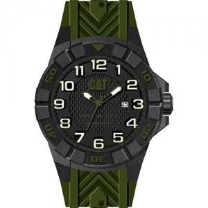 Ρολόι ανδρικό SPECIAL OPS Black/Green Carbon case - Green silicone K2.121.23.113 CAT® WATCHES