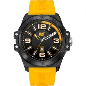 Ρολόι ανδρικό NOMAD Black/Yellow/Carbon case - Yellow silicone KO.161.27.137 CAT® WATCHES