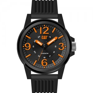 Ρολόι ανδρικό GROOVY Black/Orange - Black silicone LF.111.21.134 CAT® WATCHES