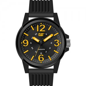 Ρολόι ανδρικό GROOVY Black/Yellow - Black silicone LF.111.21.137 CAT® WATCHES