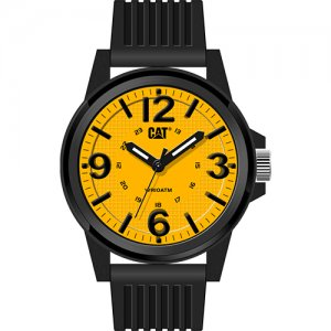 Ρολόι ανδρικό GROOVY Yellow - Black silicone LF.111.21.731 CAT® WATCHES