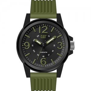 Ρολόι ανδρικό GROOVY Black/Military Green - Green silicone LF.111.23.133 CAT® WATCHES