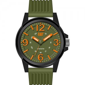 Ρολόι ανδρικό GROOVY Military Green/Orange - Green silicone LF.111.23.334 CAT® WATCHES