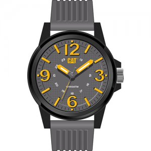 Ρολόι ανδρικό GROOVY Grey/Yellow - Grey silicone LF.111.25.537 CAT® WATCHES
