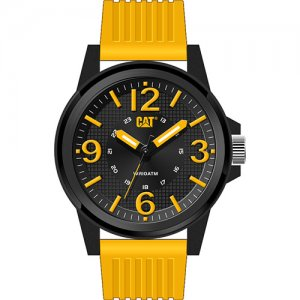 Ρολόι ανδρικό GROOVY Black/Yellow - Yellow silicone LF.111.27.137 CAT® WATCHES