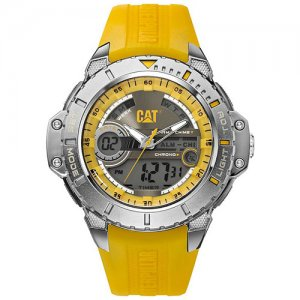 Ρολόι ανδρικό ANADIGIT Grey/Yellow - Yellow rubber MA.155.27.137 CAT® WATCHES