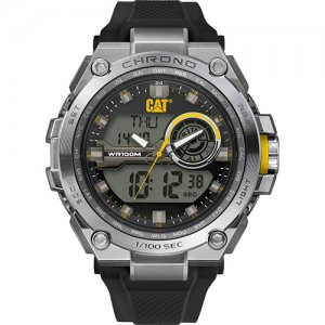 Ρολόι ανδρικό ANADIGIT Black/Yellow - Black silicone MB.145.21.131 CAT® WATCHES