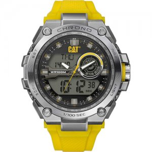 Ρολόι ανδρικό ANADIGIT Grey/Yellow - Yellow silicone MB.155.27.131 CAT® WATCHES