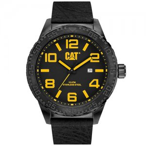 Ρολόι ανδρικό CAMDEN XL Black - Black Leather NH.161.34.137 CAT® WATCHES