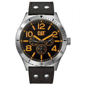 Ρολόι ανδρικό CAMDEN Black/Yellow - Black Leather NI.149.34.137 CAT® WATCHES