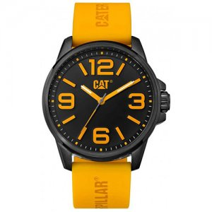 Ρολόι ανδρικό HAMPTON Black/Yellow - Black silicone NL.161.27.137 CAT® WATCHES