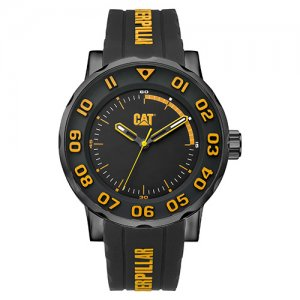 Ρολόι ανδρικό BOLD Black/Yellow/Black case - Black/Yellow silicone NM.161.21.117 CAT® WATCHES