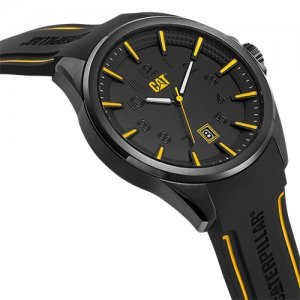 Ρολόι ανδρικό SLATE Black/Yellow - Black silicone NO.161.21.127 CAT® WATCHES | Ρολόγια Cat® Watches | karaiskostools.gr