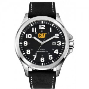 Ρολόι ανδρικό OPERATOR Black - Black leather PU.141.34.111 CAT® WATCHES