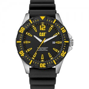Ρολόι ανδρικό STEER Black/Yellow - Black silicone PX.141.12.137 CAT® WATCHES