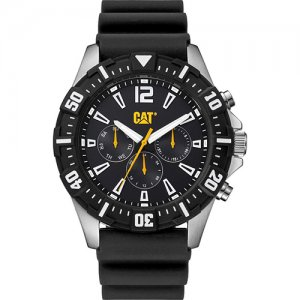 Ρολόι ανδρικό STEER multi Black - Black silicone PX.149.21.131 CAT® WATCHES